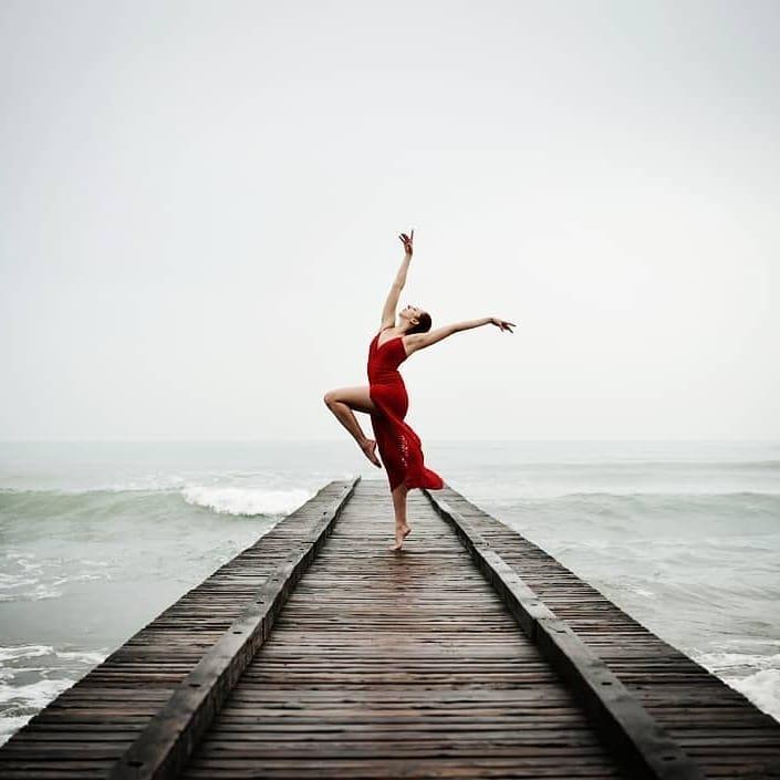 "A Special Day with @ariarainbow ""a tribute to Jesolo in winter"" #JESOLOSHOOTINGWEEK #sea #dress #dancer #reddress #ballet #beach #beachlife #performer #performance #jesolo #jesolobeach #lidodijesolo"